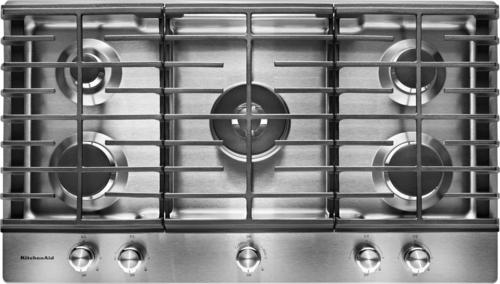 KitchenAid - 36 Built-In Gas Cooktop - Stainless Steel (Silver)