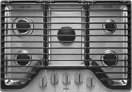 Whirlpool - 30 Built-In Gas Cooktop - Stainless Steel (Silver)