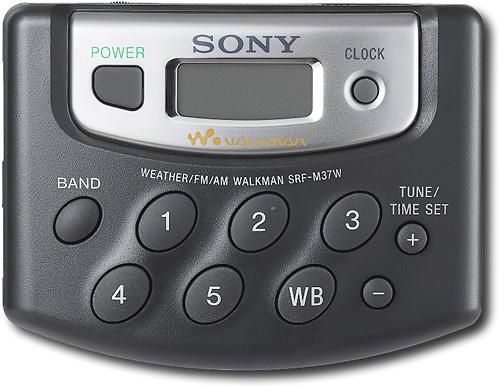 Sony - Portable Digital AM/FM Radio with Weather Band - Black