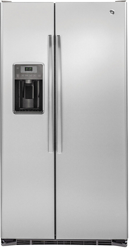 GE - 21.9 Cu. Ft. Side-by-Side Counter-Depth Refrigerator - Stainless Steel (Silver)