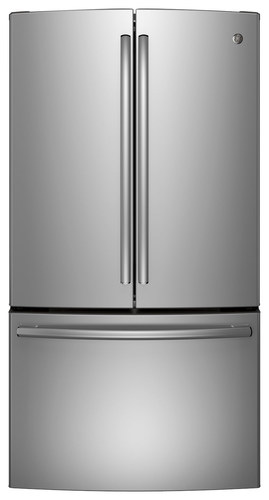 GE - 28.5 Cu. Ft. French Door Refrigerator - Stainless Steel (Silver)