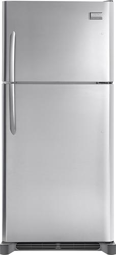Frigidaire - 18.3 Cu. Ft. Frost-Free Custom-Flex Top-Freezer Refrigerator - Stainless Steel (Silver)