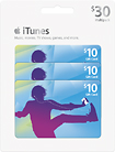 Apple® iTunes $10 Gift Cards (3-Pack)