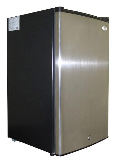 SPT - 3.0 Cu. Ft. Upright Freezer - Stainless Steel/Black (Silver/Black)