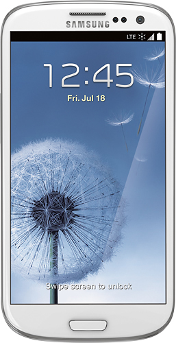 Sprint Prepaid - Samsung Galaxy S III 4G No-Contract Cell Phone - White