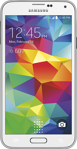 Sprint Prepaid - Samsung Galaxy S 5 4G LTE No-Contract Cell Phone - Shimmery White