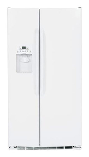 Hotpoint - 25.4 Cu. Ft. Side-by-Side Refrigerator with Thru-the-Door Ice and Water - White-on-White