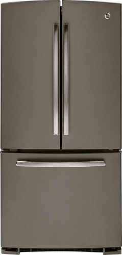 GE - 22.7 Cu. Ft. Frost-Free French Door Refrigerator - Slate (Grey)