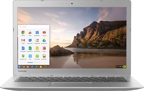 Toshiba - 13.3 Chromebook 2 - Intel Celeron - 4GB Memory - 16GB Solid State Drive - Silver