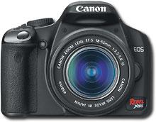 Canon - EOS Digital Rebel XSi 12.2-Megapixel Digital SLR Camera with Lens - Black - Rebel XSi