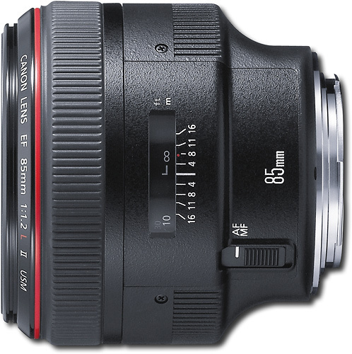 Canon - EF 85mm f/1.2L II USM Medium Telephoto Lens - Black