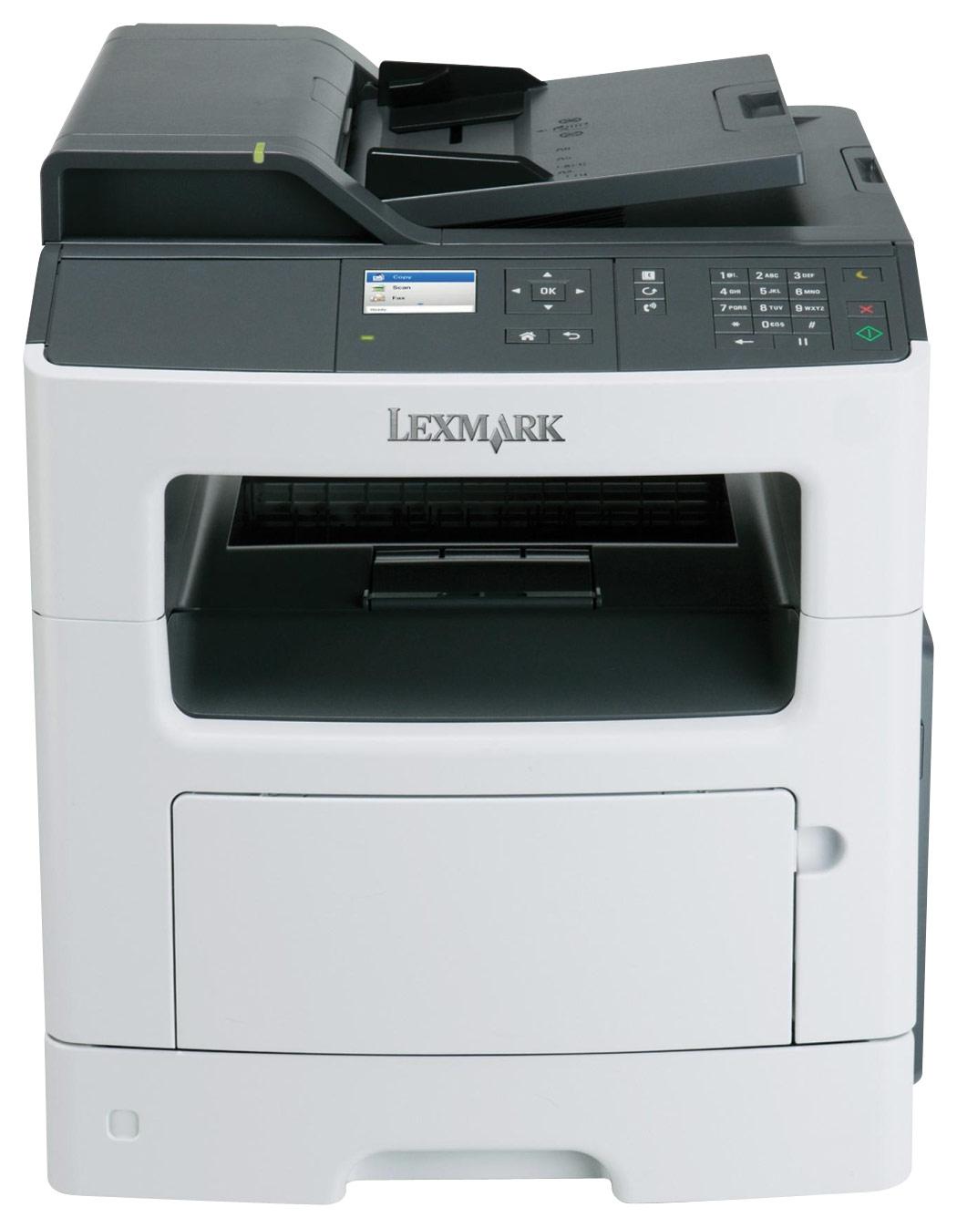 Lexmark - MX410DE Black-and-White All-In-One Printer - White/Black