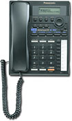 Panasonic - Corded 2-Line Integrated Telephone System with Call Waiting/Caller ID - Black
