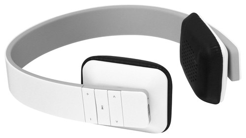 Aluratek - Bluetooth Wireless On-Ear Stereo Headphones - White