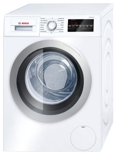 Bosch - 2.2 Cu. Ft. 15-Cycle High-Efficiency Compact Front-Loading Washer - White/Silver