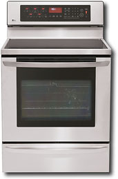 LG - 30 Self-Cleaning Freestanding Electric Convection Range - Stainless-Steel