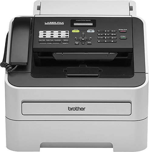 Brother - FAX-2840 Laser Fax/Printer/Copier - White