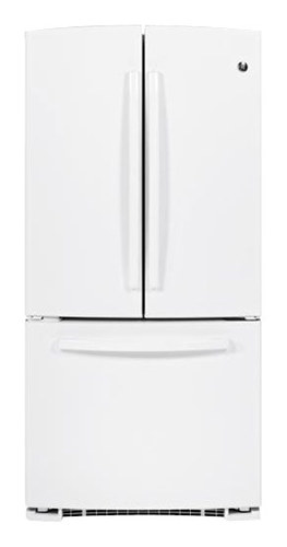 GE - 22.7 Cu. Ft. Frost-Free French Door Refrigerator - White