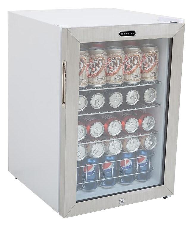 Whynter - 90-Can Beverage Refrigerator - White
