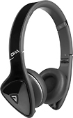 Monster - DNA On-Ear Headphones - Black/Satin Chrome/Dark Gray