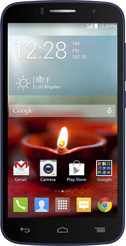 T-Mobile Prepaid - Alcatel OneTouch Fierce 2 4G No-Contract Cell Phone - Navy Blue