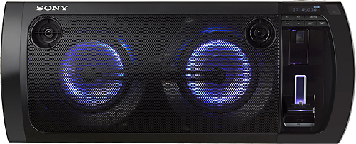 Sony - 420W Portable Party Speaker System with Apple® iPod® and iPhone® Dock - Black