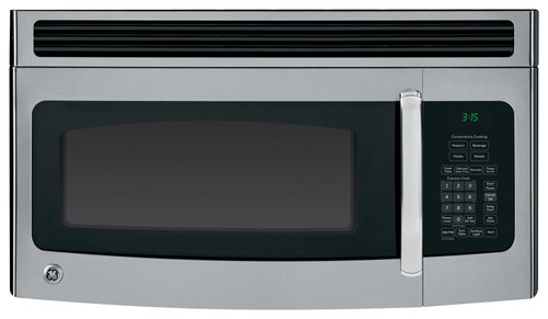 GE - 1.5 Cu. Ft. Over-the-Range Microwave - Stainless Steel/Black (Silver/Black)