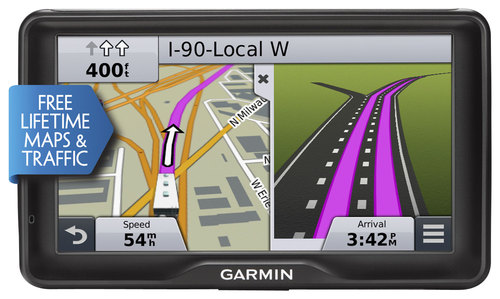 Garmin - RV 760LMT 7 GPS with Built-In Bluetooth and Lifetime Map and Traffic Updates - Black