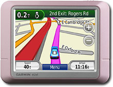 Garmin - nvi 205 Portable GPS - Metallic Pink - NUVI205PINK :  location pink gps mom
