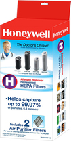 Honeywell - HEPA Filters for Select Honeywell HEPA Tower Air Purifiers (2-Pack)