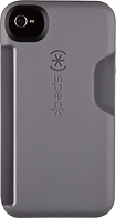 Speck - SmartFlex Card Case for Apple iPhone 4 and 4S - Dark Gray