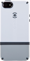 Speck - CandyShell Flip Case for Apple iPhone 5 - White/Pebble Gray/Charcoal Gray