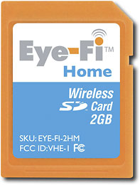 Eye-Fi - Eye-Fi Home 2GB Wireless Secure Digital Memory Card :  photo photography wireless memory card