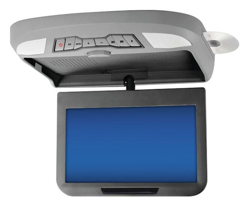 Power Acoustik - 10.2 Widescreen Overhead TFT-LCD Monitor with DVD Player - Gray