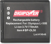 Buy Cameras - DigiPower Rechargeable Lithium-Ion Battery for Select Olympus Digital Cameras