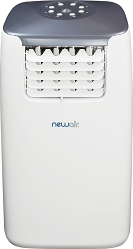 NewAir - 14,000 BTU Portable Air Conditioner - White/Gray