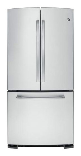 GE - 22.7 Cu. Ft. Frost-Free French Door Refrigerator - Stainless Steel (Silver)
