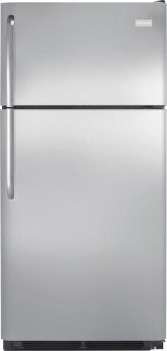 Frigidaire - 18.1 Cu. Ft. Top-Freezer Refrigerator - Stainless Steel (Silver)