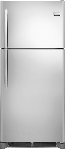 Frigidaire - Gallery 20.4 Cu. Ft. Custom-Flex Top-Freezer Refrigerator - Stainless Steel (Silver)