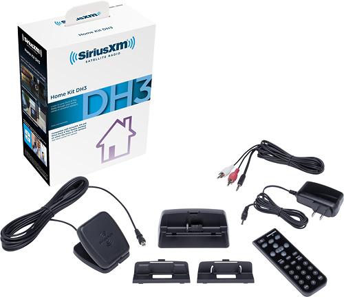 SiriusXM - Interoperable Home Kit for Most SiriusXM, Sirius and XM Models - Black