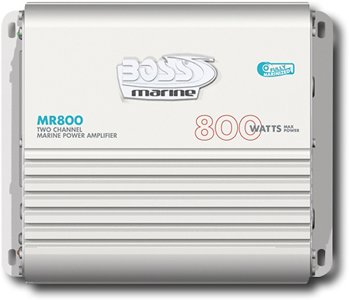 Boss - Marine Amplifier - 800 W PMPO - 2 Channel - White