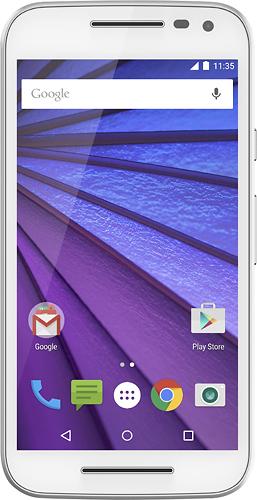 Motorola - Moto G (3rd Generation) 4G with 16GB Memory Cell Phone (Unlocked) - White