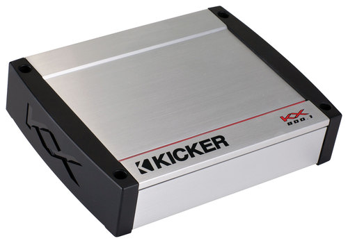 Kicker - 800W Class D Mono Amplifier with Variable Crossovers - Silver