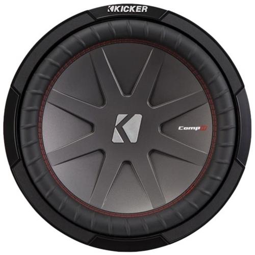Kicker - CompR 12 Dual-Voice-Coil 4-Ohm Subwoofer - Black