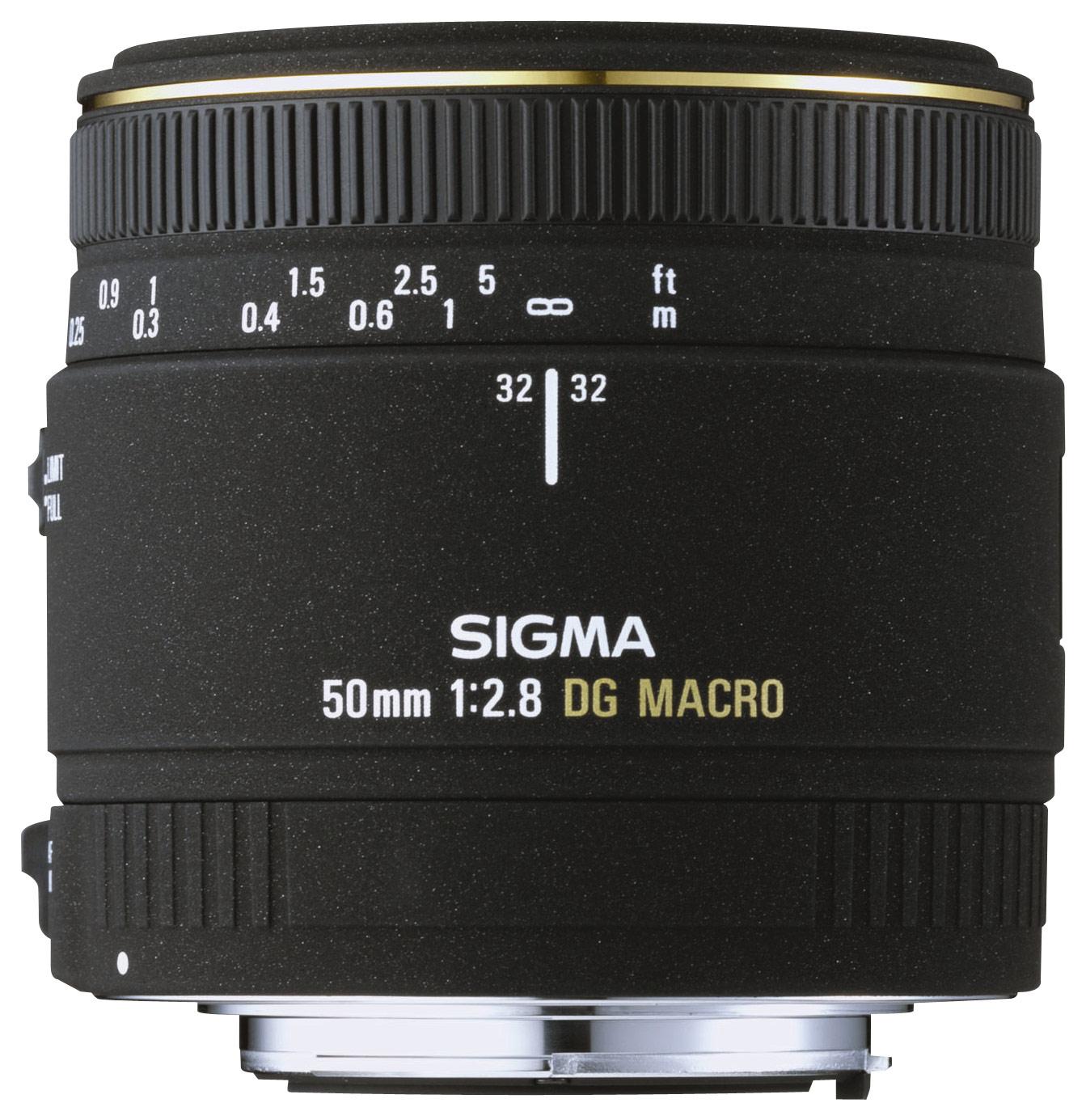 Sigma - 50mm f/2.8 EX DG Macro AF Lens for Nikon AF Digital SLR Cameras - Black