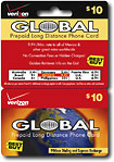 Verizon $10 International Flat Rate Prepaid Phone Card Plus