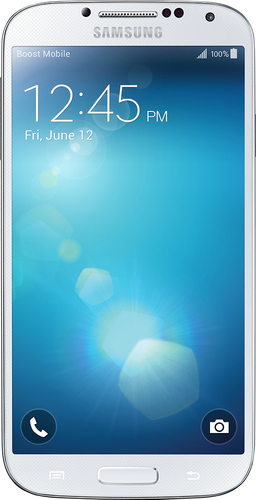 Boost Mobile - Samsung Galaxy S 4 4G LTE with 16GB Memory No-Contract Cell Phone - White