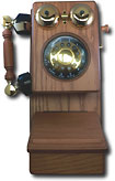 Telemania - Golden Eagle Country Wood Telephone