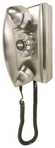 Crosley - Corded 302 Wall Phone - Brushed Chrome