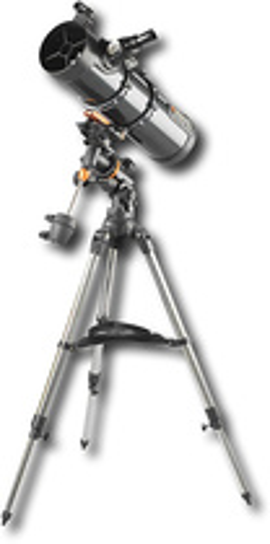 Celestron - AstroMaster 130EQ 650mm German Equatorial Reflector Telescope - Orange/Blue